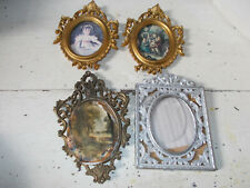 Vintage Italian metal and plastic picture frames x 4