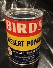 Bird's Dessert Powder Tin General Foods Ltd England