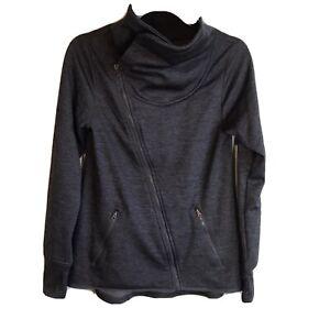Champion Duo Dry Dark Gray Snap Up Collar Full Zip Jacket S