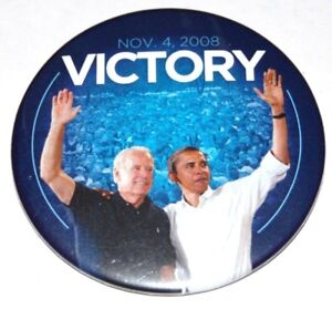 2008 BARACK OBAMA JOE BIDEN campaign pin pinback button political election