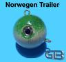 Norwegen Trailer, 40g 50g 75g 90g 100g 140g 170g Sea Trailer, Kugelblei mit Öse