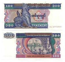 BURMA MYANMAR 100 KYATS 1994 SECURITY THREAD UNC P 74 a