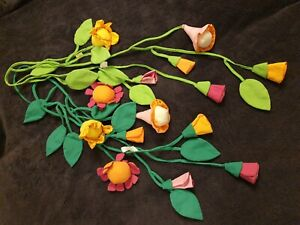 2 x Haba Girlanden Blumen bunt hell dunkel grün