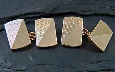 Vintage Heavy Pair of 9ct Gold Cufflinks - Hallmarked 1961 - 13g