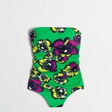 J. Crew Factory Graphic floral one-piece swimsuit sz XS F2852