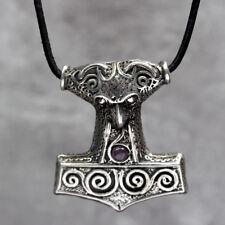 Large Thors Hammer Pendant, Mjölnir : By St Justin Pagan Larp Goth Viking