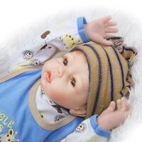 22'' Handmade Reborn Baby Doll Soft Simulation Silicone Boy Toy Reborn Doll HU