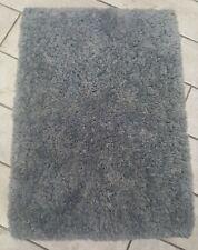 Allure Grey Fluffy Bath Mat 72cm x 50cm