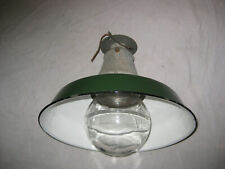 "Vintage Benjamin Explosion Proof Light With 14"" Porcelain Shade and a Rare GLOBE"