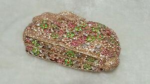 Multi-Color Handmade Austria Crystal Rabbit 3D Shaped Purse Cocktail Evening Bag