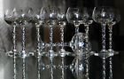 ANCIEN 11 verres à vin en cristal TAILLE MEISENTHAL FRANCE OU ST LOUIS ART DECO