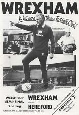 Mar 84 WREXHAM v HEREFORD UNITED Welsh Cup semi final