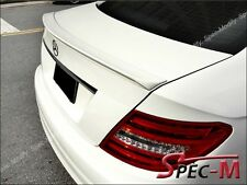 C63AMG Type 650 White Tail Trunk Lip For 2012+ C204 C200 C250 C350 Coupe 2Dr