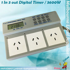 Multifunction Hydroponic 1 in 3 Out Programmable Digital Timer Box Fo Grow Light