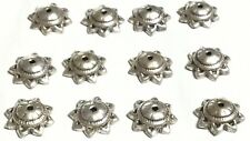 12 Fine Sterling Silver Flower Fancy Bead Caps- Beading Supplies