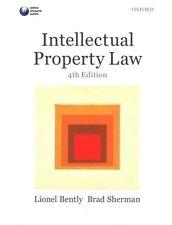 Intellectual Property Law by Lionel Bently, Brad Sherman (Paperback, 2014)