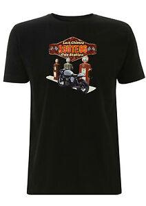 bonneville cafe racer t shirt gas station route 66 biker triumph scrambler ride