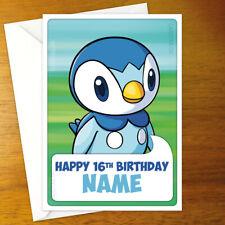 PIPLUP Personalised Birthday Card - personalized greeting pokemon pokémon