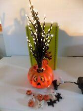 Animated Lighted Fiber Optic Tree Halloween Spooky Decor