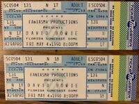 1990 David Bowie Sound And Vision Tour Concert Tickets - Unused