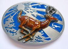 Gürtelschnalle Hirsch Buckle Deer Reh Jagd x