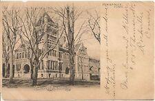 Rockville High School Rockville Ct Postcard 1906