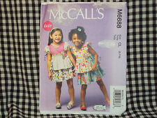 McCall's GIRLS sewing pattern #6688 top & skirt SZ 6,7,8 EASY