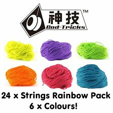 24 x God Tricks 40% Poly / 60% Cotton YoYo Strings RAINBOW PACK 6 Colours
