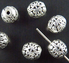 25pcs Tibetan Silver Nice Bail Style Spacer Beads 8x7mm zn1003