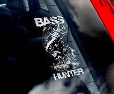 BASS HUNTER-PESCA Finestra Auto Adesivo-Pesce Pescatore-NON./FLY/Pike/salmone