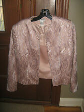 Zola Evening Jacket and Blouse - Pink Beaded - Size 8