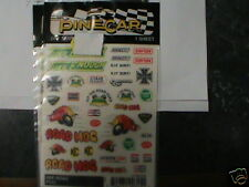 PINECAR PINEWOOD DERBY P315 DRY TRANSFER DECALS OFF ROAD  NEW NIP