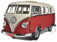 1962 VOLKSWAGEN MICROBUS BROWN 1/18 DIECAST CAR MODEL BY ROAD SIGNATURE 92328