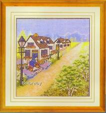 Counted Cross Stitch Kit COUNTRY COTTAGE LANE Home Decor Chart Pattern Threads