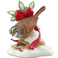 Lenox White Throated Sparrow Bird 2014 Christmas Limited Ed New in Box