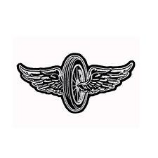Biker Chopper Motorrad Flying Wheel Wings Reifen Flügel Aufbügler Aufnäher Patch