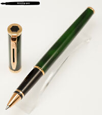Waterman Preface Rollerball in Green-Marble-Gold (with small paint damage)