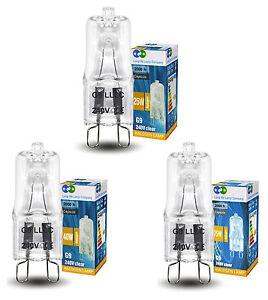 G9 Halogen Light Bulbs 25W 40W 75W G9 Capsule Bulbs 240v Various Pack Sizes