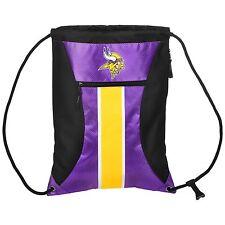 Minnesota Vikings High End Big Stripe Zipper Drawstring Gym Bag Backpack sack