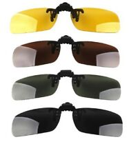 Unisex Sunglasses Clip On Flip Up Driving Glasses Sun Holiday Mens Womens Yellow