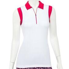 NWT EP Pro NY Women's Zip Neck Sleeveless small or Medium Golf Polo NEW 5526NEBX