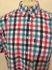 Barbour Shirt Men's Multi Check Button Up Shirt Size S Retail $109 NEW!