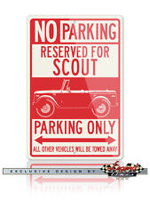 1961 International Scout Series 80 4x4 Reserved Parking Only 12x18 Aluminum Sign