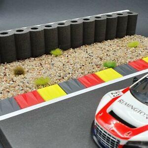 Reifenstapel XL für Autorennbahnen 1:32 - 1:24 SCHWARZ - 99 cm - Tyre Wall  RAS