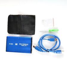 Blue USB 3.0 HDD Hard Drive External Enclosure 2.5 Inch SATA HDD Case Box