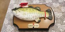 Big Mouth Billy Bass Singing  Fish Santa Hat Christmas Edition 1999 Works