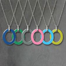 Collar de joyería de metales preciosos sin piedras de acero inoxidable