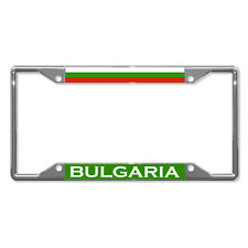 BULGARIA FLAG COUNTRY Metal License Plate Frame Tag Holder Four Holes
