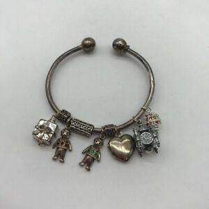 Silver 925 Charm Bracelet 7