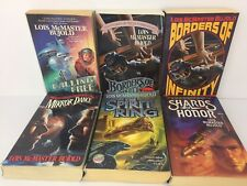 Lois McMaster Bujold Books Lot 6 Science Fiction Paperback Spirit Rising Etch